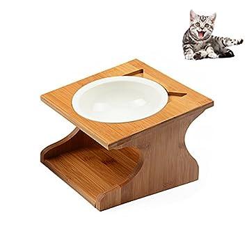 Petacc Gamelle En Ceramique Pour Chat Et Chien Avec Support En