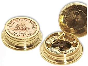 Vidal Regalos Reloj Solar con brujula de Bolsillo Laton 5 cm