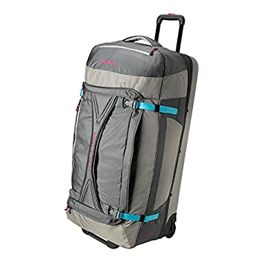 Eddie Bauer Unisex-Adult Expedition Drop Bottom Rolling Duffel - Extra Large, Gr
