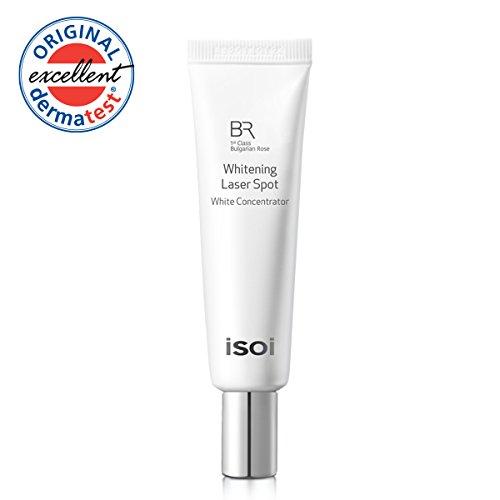 isoi 1st Class Bulgarian Rose Whitening Laser Spot 20mL - natural dark spot corrector, pigment lightening cream, for bright and clear skin, spot (Laser Dark Spots)