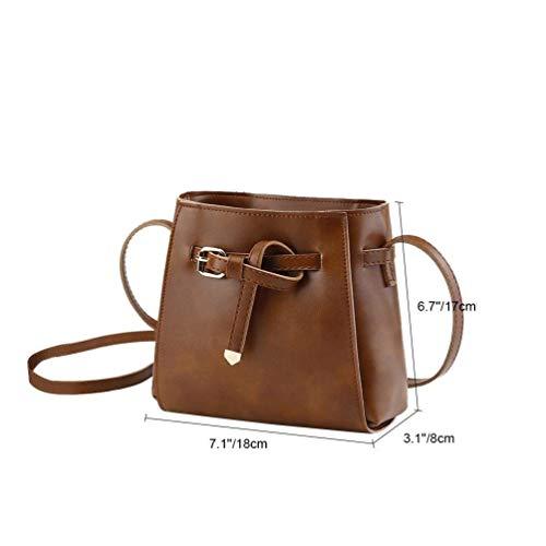 borsa borsa casual a a Marrone Marrone Colore tracolla Dimensione tracolla donna in PU Vbiger marrone pelle messenger dTPqBn8d5x