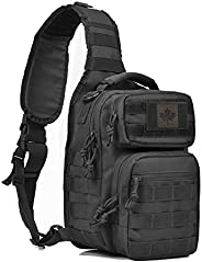 Coolton Tactical Sling Bag, Shoulder Army Molle Daypack, Hiking Hunting Trekking Fishing Tackle Bag