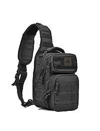 Coolton Tactical Sling Bag, Tactical Bag/Sling Bag/Chest Bag Pack/Army Military Molle Sling Bag Backpack/Sling Backpack/Hiking Daypack For Hunting Camping Trekking