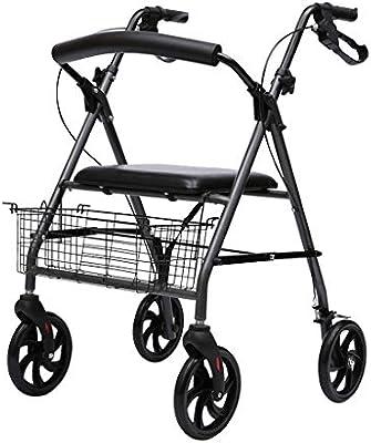 Andadores- Ligero, sillas de Ruedas, Freno Flexible, cesto, Altura ...