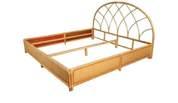 Hansen Rattan 3065/200 ratán de cama doble con cuenco/sin marco, colchón y ropa de cama/B 206 T 206 h 35/113 cm, natural: Amazon.es: Juguetes y juegos