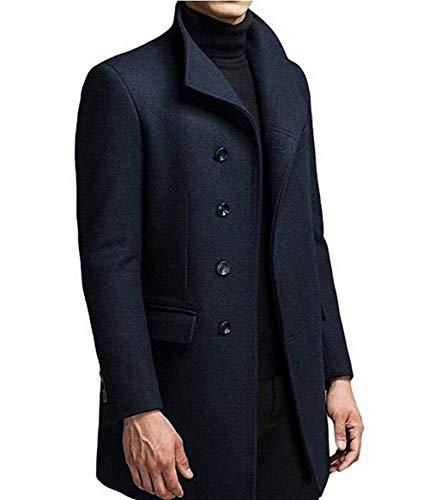 Apparel 2 Coat Coat Elegant Long Coat Wool Slim Autumn Jacket Parka Windbreaker Winter Men's marine Huixin Business Trench xwaf88