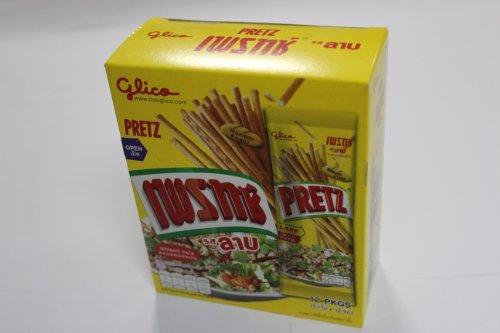 Glico Pretz Bread Stick Larb Flavour 14.5g * 12 Packs