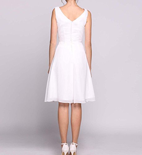 Rustikale W Brautkleider Vintage Weiß O Hochzeitskleider hohe niedrige Boho Kurze D Frauen 1 Lange 05pawq