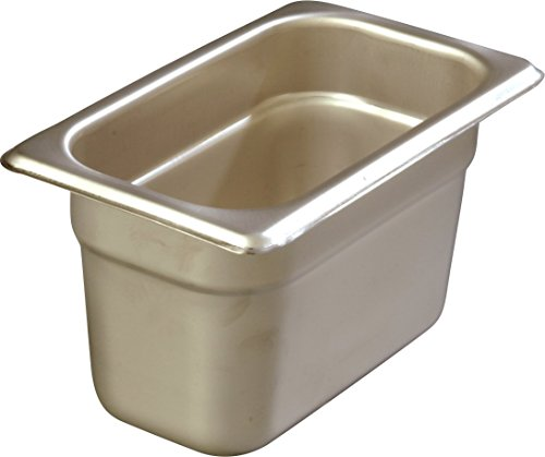 Carlisle Heavy Gauge - Carlisle 608194 DuraPan Heavy 22-Gauge 18-8 Stainless Steel Ninth-Size Food Pan, 1.7 qt. Capacity, 6-7/8 x 4-1/4 x 4