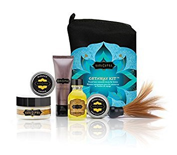 - Kama Sutra Intimate Gift Sets & Fun Travel Kits THE GETAWAY KIT (Escape to a romantic paradise with the essential travel kit for lovers.)