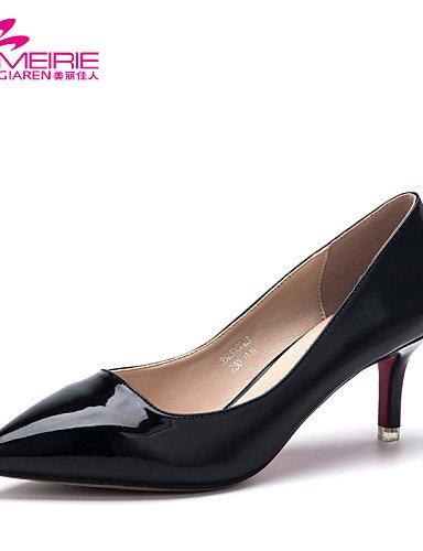 PDX/ Damenschuhe - High Heels - Lässig - Kunstleder - Stöckelabsatz - Absätze / Spitzschuh / Geschlossene Zehe -Schwarz / Rosa / Rot / Grau / red-us5.5 / eu36 / uk3.5 / cn35