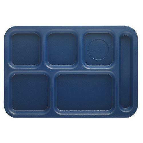 (Cambro PS1014186 Textured Penny-Saver School Tray, 6-Compartment, 10