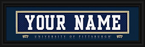 Laminated Visuals Pittsburgh Panthers - Personalized Jersey Nameplate - Framed Poster (Pittsburgh Panthers Photograph)