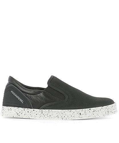 Hogan Rebel Slip On Sneakers Uomo HXM1410V040FMUB999 Pelle Nero