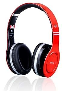 MiiKey Wireless MiiRhythm Stereo Bluetooth Headphones for iPhone - Bluetooth Headset - Retail Packaging -Red