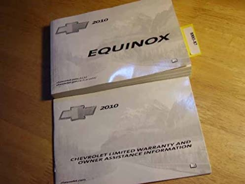 2010 chevrolet chevy equinox owners manual guide book chevrolet rh amazon com 2013 Chevy Equinox 2011 chevy equinox service manual