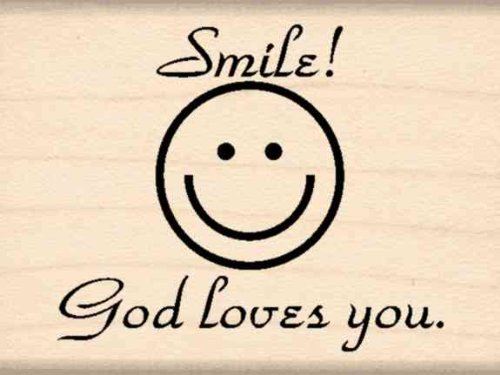 Stamps by Impression Smile God Loves You Rubber Stamp