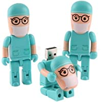 10 Pieces 8GB novelty blue doctor shape USB Flash Drive pen drive memory stick pendrive