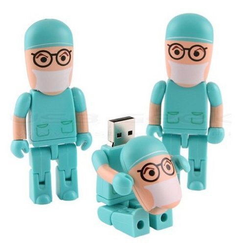 shooo Hembra Enfermera USB Flash Drive Juguete Forma Estilo Cartoon Robot 4