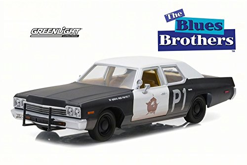 Greenlight 1974 Dodge Monaco Bluesmobile, The Blues Brothers 84011 - 1/24 Scale Diecast Model Toy Car