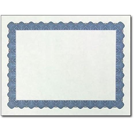 amazon com metallic border parchment certificate paper 250