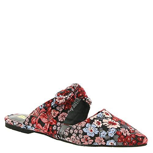 BC Footwear Women's Quarter Mule Black Floral Fabric 7.5 M US