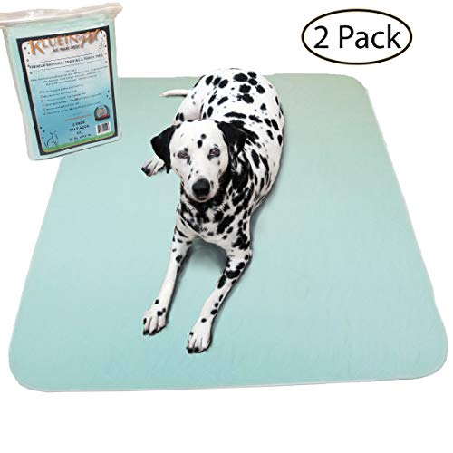 Kluein Pet Washable Pee Pads for Dogs, Washable Puppy Pads, 2-Pack XXL (36x41) Waterproof Potty Pads, Whelping Pads, Pet Pen, Travel, Dog Training Pads from Kluein Pet