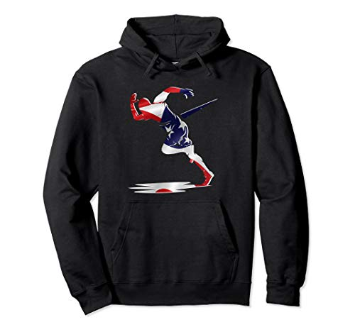 (American Flag US Runner Sprinter Awesome Track & Field Gift Pullover Hoodie)
