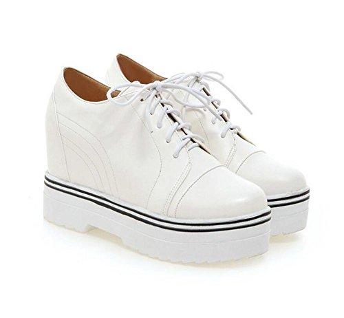 LDMB Le printemps et l'automne s'accroissent avec les cales dans les chaussures de plate-forme à semelles épaisses , white , 39
