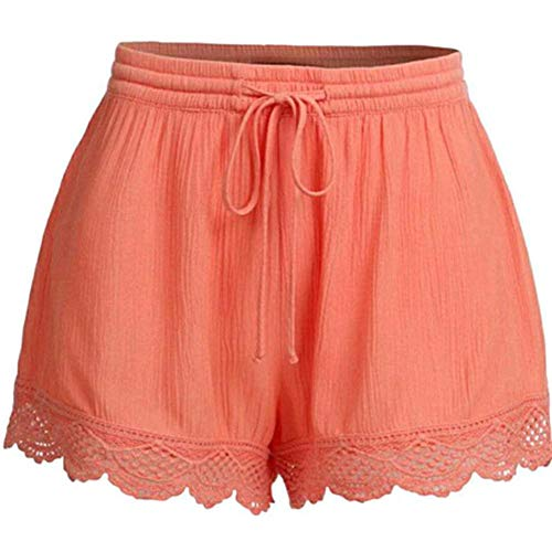 Arancione Stringate vita corto Fancylande alta estate donna Large rosso Shorts Lady Casual Shorts Sport casual Pantaloni Pure Home Shorts di donna pantaloni Shorts Pantaloncini Color fCq6Sw