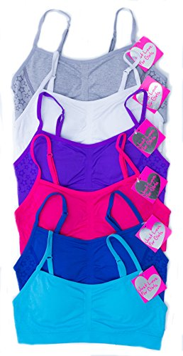 GB-6P-37003-L Just Love Girls Bras / Tagless & Seamless Sports Bra for Kids (Pack of 6)