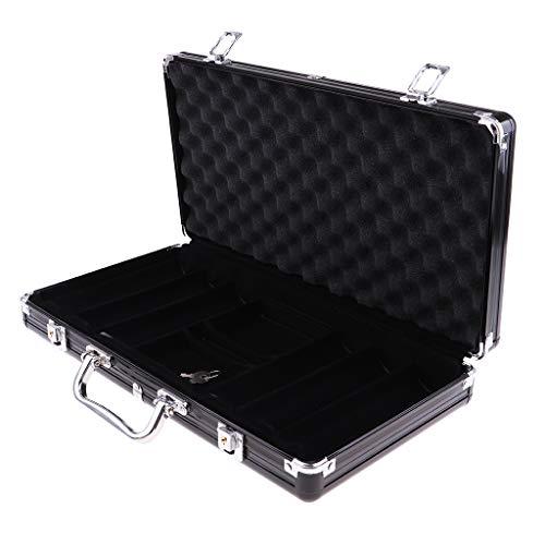 SM SunniMix Portable Aluminum Poker Chip Case Storage Box for Holding 300 Chips Coins (300 Aluminum Case Chip)
