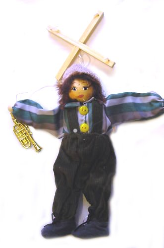 BOY PUPPET MARIONETTE WITH TRUMPET 9