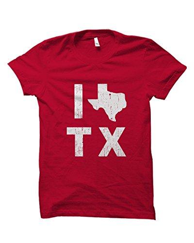I Love Texas State Pride Vintage Distressd Look Adult Novelty Unisex - Love Antonio Culture San