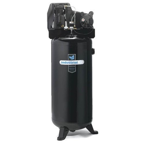 Industrial Air ILA3606056 60-Gallon Single Stage Cast Iron Twin Cylinder Air Compressor