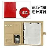 BeesClover A4 File Folder Bag Office Supplies Organizer Bag Cartella Documenti Archivador Documentos Document Organizer red C Style