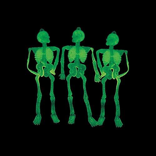 Vinyl Glow-In-The-Dark Sticky Skeletons / LOT OF 144