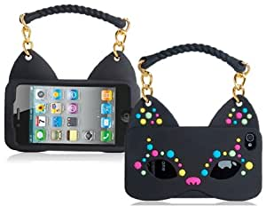 Get Fox Mask & Handbag Shaped Silicone Protective Case for iPhone 4S/4 (Black)