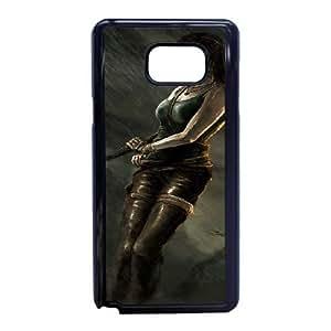 F3M13 tomb raider Y1E6DK funda caso funda Samsung Galaxy Note 5 teléfono celular cubren PT3QDV7IT negro
