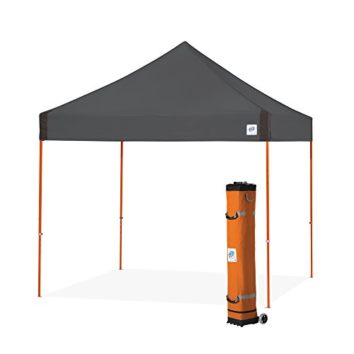 E-Z UP Vantage Instant Shelter Canopy, 10 by 10′, Steel Grey For Sale