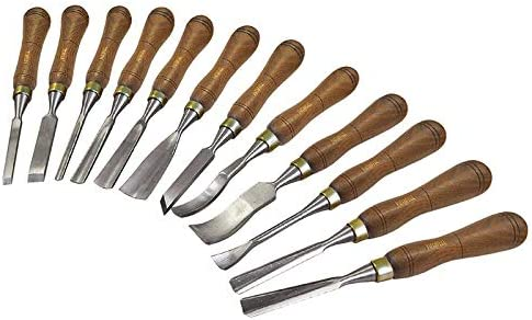 Faithfull WCSET12 12-Piece Woodcarving Set in Case