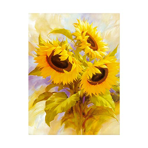 Sunflower Kit (Dylan's cabin 5D DIY Diamond Painting Kits for Adults, Cross Stitch Arts Craft Paint with Diamond for Home Wall Decor?sunflower/16x12inch))