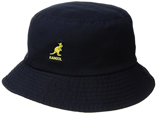Kangol Men's Washed Cotton Bucket Hat, Navy, XL