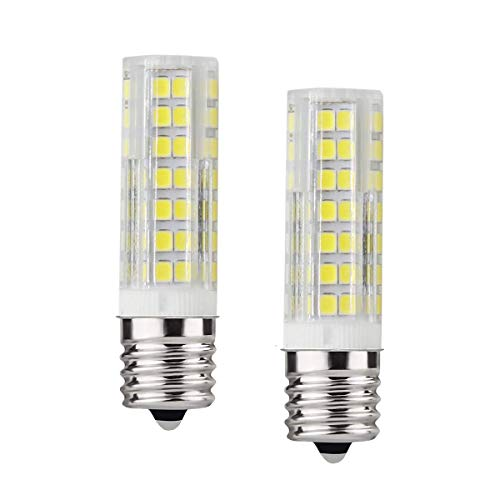 Ceramic E17 LED Bulb for Microwave Oven Appliance 4W 40W Halogen Bulb Equivalent Warm White 3000K Pack of 2 Home High Power lamp