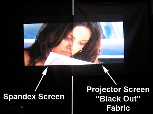 120 Inch Portable Spandex Projector Screen Complete Kit