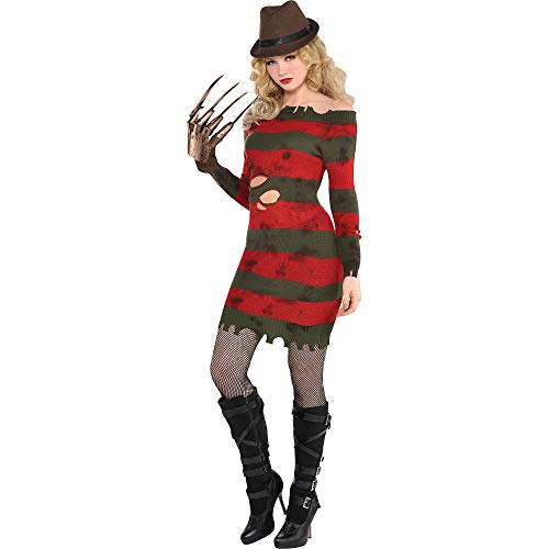 Women's Freddy Krueger Costume (SUIT YOURSELF A Nightmare on Elm Street Miss Krueger Costume for Adults, Size Extra-Large, Includes a Dress and a)