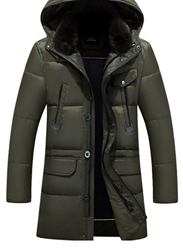 Jackets Generic Hoodie Army Down Outwear Winter Coats Thick Green Men's qqfRY