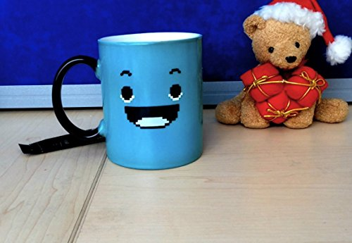 InGwest Home. Morning Coffee Mug. 11 ounce. Changing Color Mug for you and your friend. Ceramic Heat Sensitive Color Changing Coffee Mug. Novelty Heat Sensitive Mug With Funny Smile by InGwest Home (Image #7)