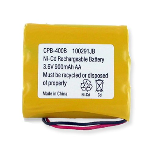 Radio Shack ET-920 Cordless Phone Battery Ni-CD, 3.6 Volt, 900 mAh - Ultra Hi-Capacity - Replacement for Sony BP-T50 Rechargeable Battery