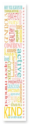 The Kids Room by Stupell Kind Active Curious Typography Growth (Play Canvas Growth Chart)